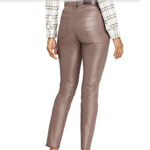 Lands End HighRise Slim Coated Metallic   Jeans  M